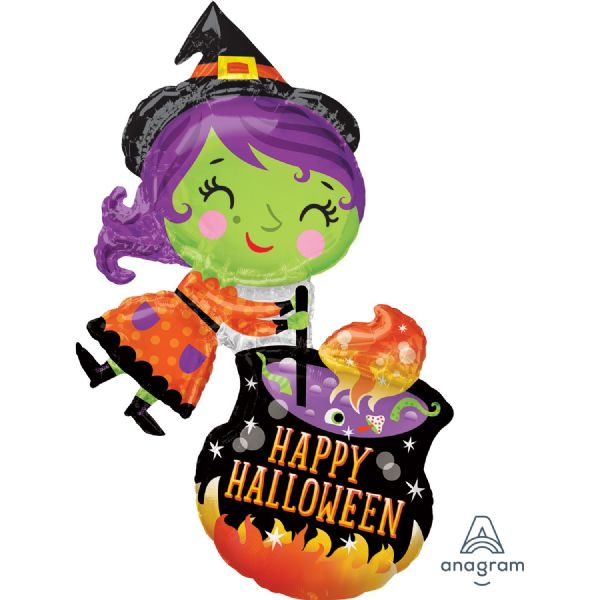 Witch & Cauldron SuperShape Foil Balloon